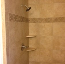 Gulfport custom tile shower