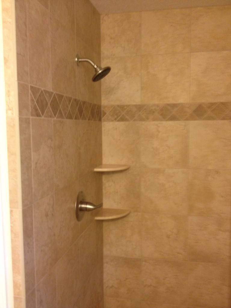 tan tile shower | custom home remodeling in gulfport, ms | 228.224