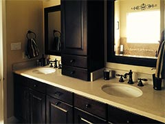 Custom vanities make stunning additions to a bathroom remodel