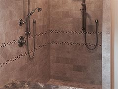 Our tiling expertise was used to create this custom shower