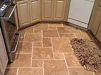 Custom travertine floor