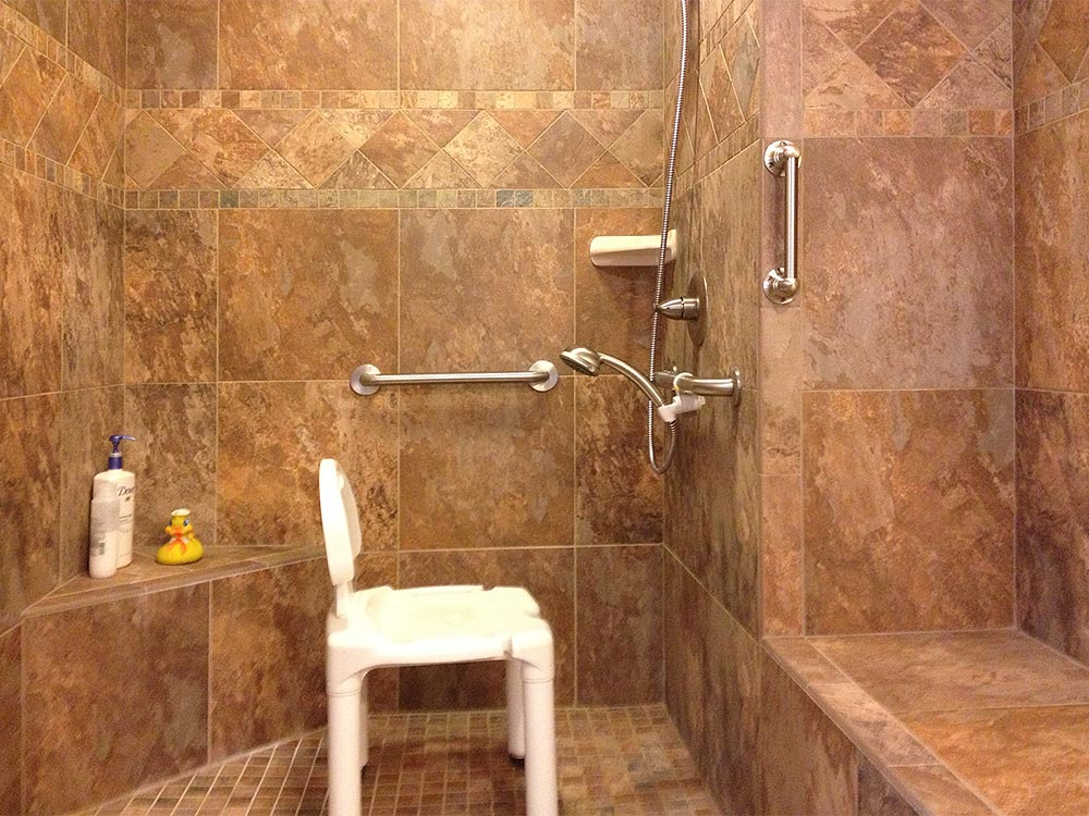 Spaciousness And Safety Are Part Of This Barrier Free Accessible Shower As  Well As Beautiful