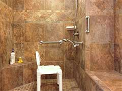 Mother-in-Law Bathroom Remodel with Accessible Shower