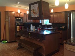 Picture of outdated kitchen before remodeling