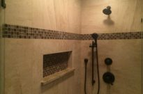 Custom shower with custom tile